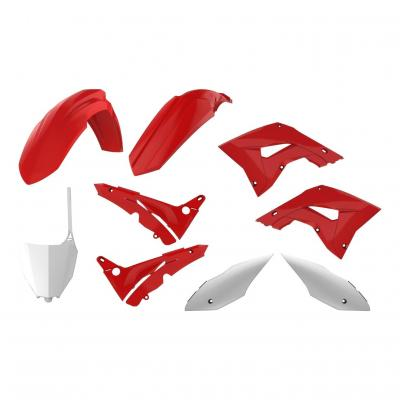 Kit plastique Polisport Restylé Honda CR 125R 04-07 rouge (couleur origine)