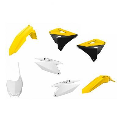 Kit plastique Polisport Suzuki 125 RM 01-08 jaune/blanc/noir (couleur origine 2019)