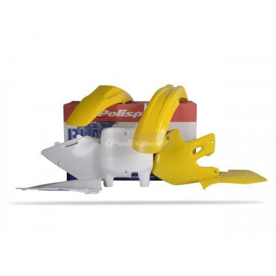 Kit plastique Polisport Suzuki 250 RM 99-00 (jaune-blanc origine)