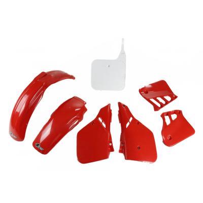 Kit plastique UFO Honda CR 125R 87-88 rouge/blanc (couleur origine 88)
