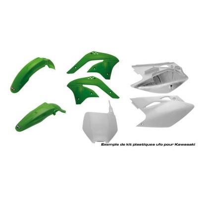 Kit plastique UFO Kawasaki 250 KX-F 2008 vert/blanc (couleur origine)