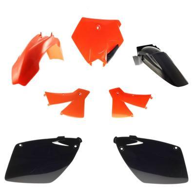 Kit plastique UFO KTM 250 SX 2003 orange/noir (couleur origine)