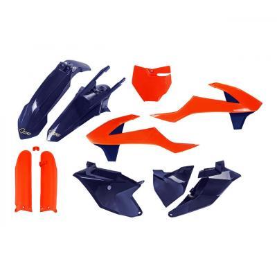 Kit plastiques UFO Edition Limitée KTM 85 SX 18-21 orange/bleu