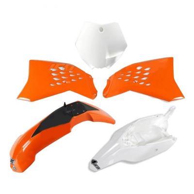 Kit plastiques UFO KTM 65 SX 12-15 orange/blanc (couleur origine)