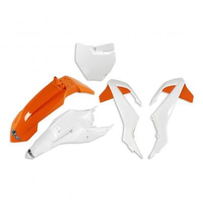 Kit plastiques UFO KTM 65 SX 16-21 orange/blanc (couleur origine 19)