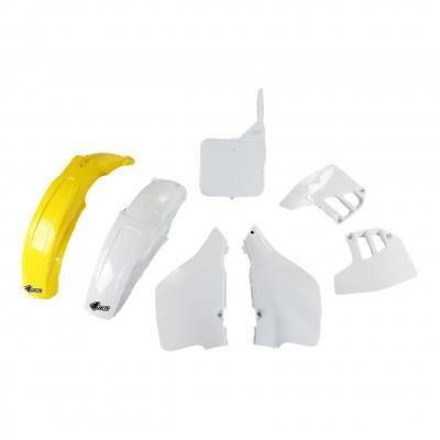 Kit plastiques UFO Suzuki 125 RM 1992 jaune/blanc (couleur OEM)