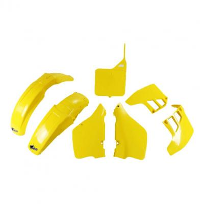 Kit plastiques UFO Suzuki 125 RM 89-91 jaune (couleur OEM)