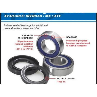 Kit roulements de roue arriere All Balls Honda CRF 250L 13-16
