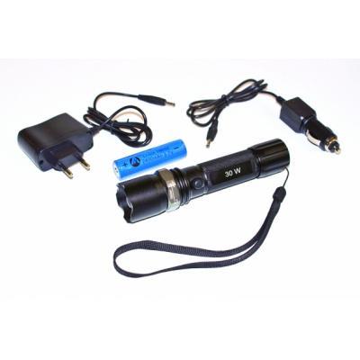 Lampe torche 1 LED rechargeable - 3 positions d'éclairage 12 ou 220v