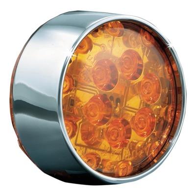 LED de remplacement orange cerclage chrome Kuryakyn