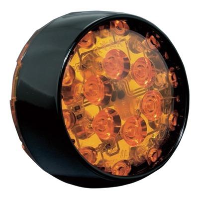 LED de remplacement orange cerclage noir Kuryakyn