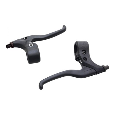 Leviers de frein vélo City/VTT Newton résine noir pour V-brake (3 doigts)