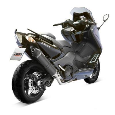 Ligne complète 2x1 MIVV Stronger Steel noir / casquette carbone Yamaha T-Max 530 12-