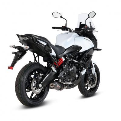 Ligne complète inox homologuée MIVV Oval carbone Kawasaki Versys 650 15-
