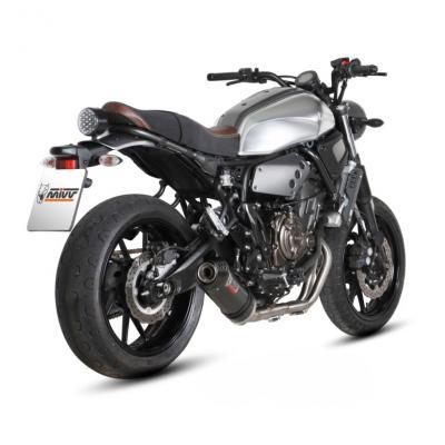 Ligne complète inox MIVV silencieux Oval Finition carbone pour Yamaha XSR 700