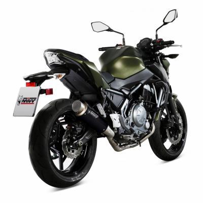 Ligne d'échappement complète Mivv inox silencieux GP Pro noire Kawasaki Z 650 17-19