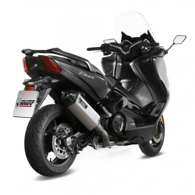 Ligne d'échappement complète Mivv Speed Edge inox casquette carbone Yamaha T-Max 530 17-18