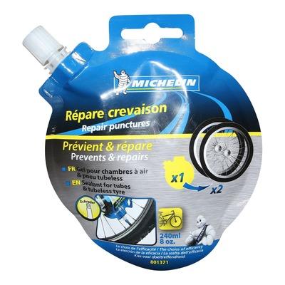 Liquide anti-crevaison Michelin pour pneu tubeless et tubetype (240ml)
