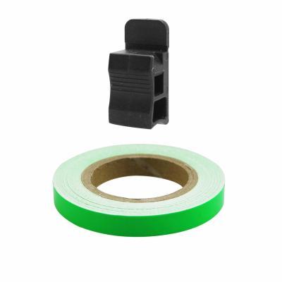 Liseret de jante 7mm x 6m vert avec applicateur