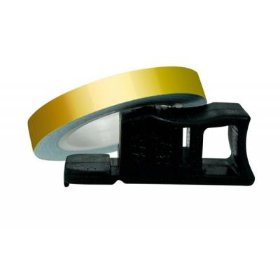 Liseret de Jante Chaft doré 7mm x 1,5m avec applicateur