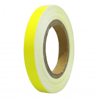 Liseret de jante Tun'R 7mm x 6m jaune fluo avec applicateur