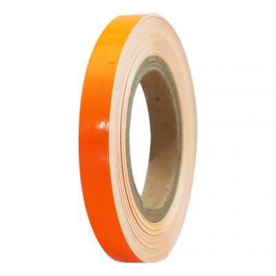 Liseret de jante Tun'R 7mm x 6m orange fluo avec applicateur