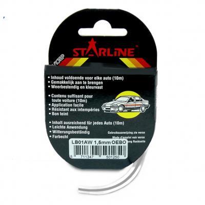 Liseret Tuning Starline 10m x 1.5mm, argent