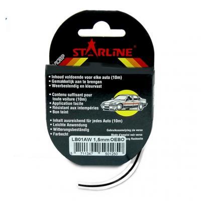 Liseret Tuning Starline 10m x 1.5mm, noir