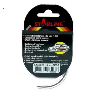 Liseret Tuning Starline 10m x 3mm, anthracite