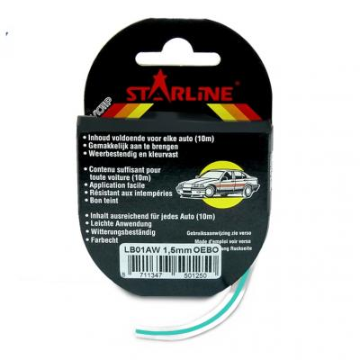 Liseret Tuning Starline 10m x 3mm, turquoise