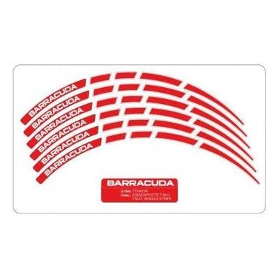 Liserets de jantes Barracuda rouges Maxi Scooter