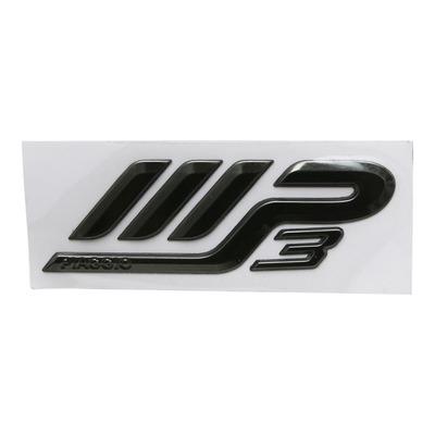 Logo Mp3 d'aile arrière gris foncé 1B000253 pour Piaggio 500 MP3