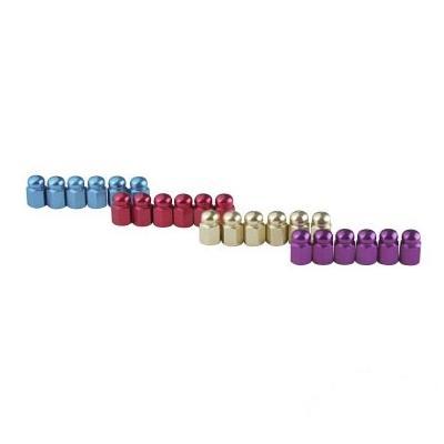 Lot de 24 Bouchons de Valve Tun'R Hexagonal Alu Couleur Assortie