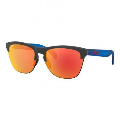 Lunette de soleil Oakley Frogskins Lite Signature Maverick Vinales noir/bleu mat verre Prizm® Ruby/