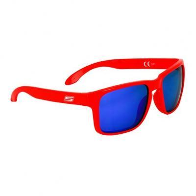 Lunette de soleil S-Line N°20 verres iridium bleu monture rouge