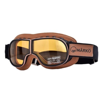 Lunette moto Marko B3 Replica marron