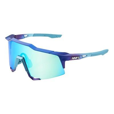 Lunettes de soleil 100% Speedcraft violettes/bleues écran chromé topaze