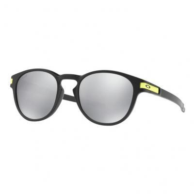 Lunettes de soleil Oakley Latch Valentino Rossi Signature Series Matte Black verres Chrome Iridium