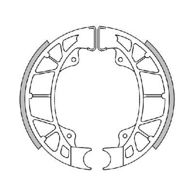 Mâchoire de frein Polini arrière Typhoon/Stalker/NRG/ZIP/Vespa LX 2004>/LXV