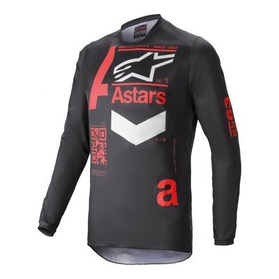 Maillot cross Alpinestars Fluid Chaser noir/bright rouge