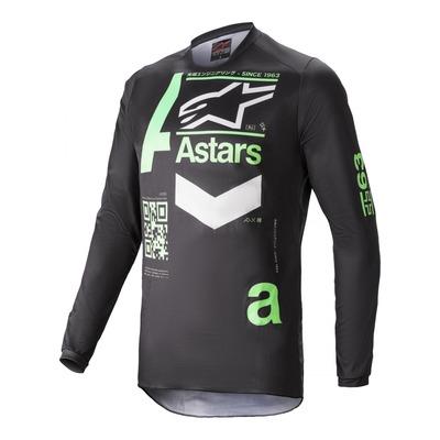 Maillot cross Alpinestars Fluid Chaser noir/vert menthe