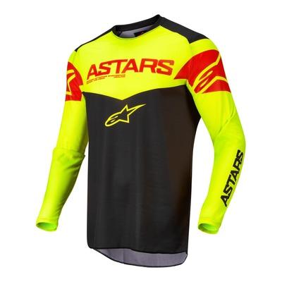 Maillot cross Alpinestars Fluid Tripple noir/jaune fluo/rouge fluo