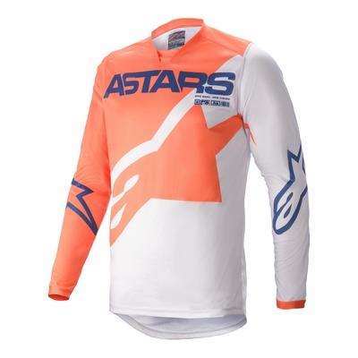 Maillot cross Alpinestars Racer Braap orange clair/gris/bleu foncé