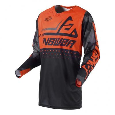 Maillot cross Answer Elite Discord noir/orange