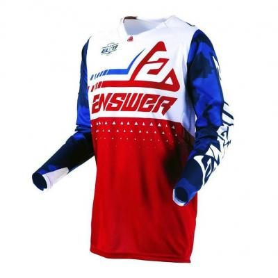 Maillot cross Answer Elite Discord rouge/blanc