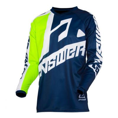 Maillot cross Answer Syncron Voyd Midnight/Hyper Acid/White