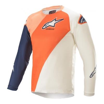 Maillot cross enfant Alpinestars Youth Racer Blaze orange/bleu foncé