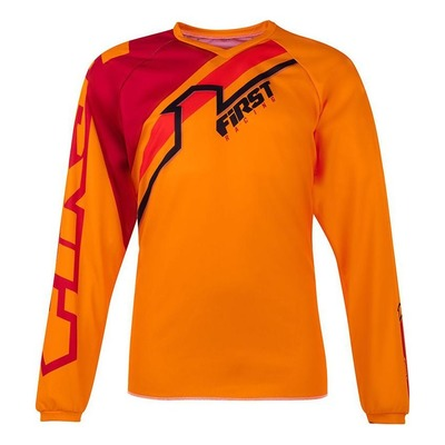 Maillot cross enfant First Racing Stripes orange