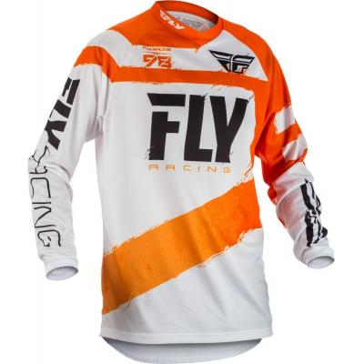 Maillot cross enfant Fly Racing F-16 orange/blanc