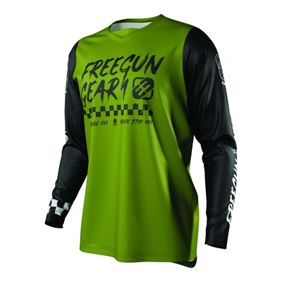 Maillot cross enfant Freegun Devo Speed kaki